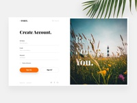 Daily UI #01 - Sign Up