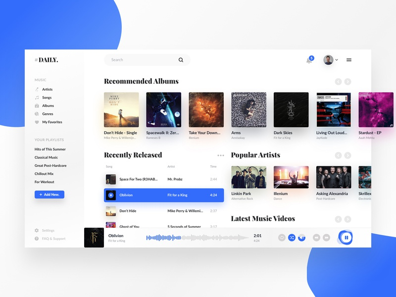 Download Daily UI #09 – Music Player