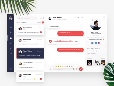 Daily UI #13 - Direct Messaging messanger message app message direct message dailyui clear uikit sketch minimal design webdesign inspiration freebie creative free interface web clean ux ui