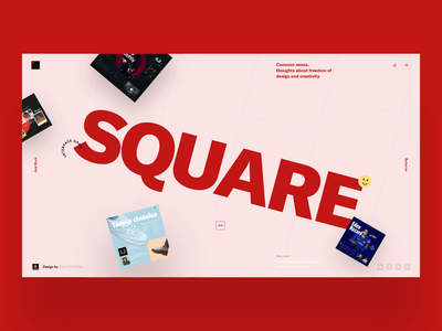 SQUARE - Interaction Vol. 1 square photo challenge interaction dailui grid typography website design clear sketch creative inspiration webdesign interface clean web ux ui porfolio