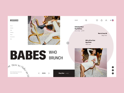 MISSGUIDED - Interaction Vol. 1 ecommerce woman missguided porfolio ui ux web clean interface webdesign inspiration creative sketch clear design website typography grid dailui interaction