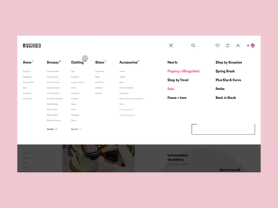 MISSGUIDED - Interaction Vol. 3 interaction dailui grid typography website design clear sketch creative inspiration webdesign interface clean web ux ui porfolio missguided woman ecommerce