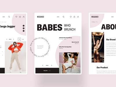 MISSGUIDED - Tablet Version interaction dailui grid typography website design clear sketch creative inspiration webdesign interface clean web ux ui porfolio missguided woman ecommerce
