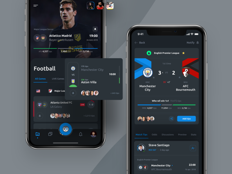 ValueBet - Mobile App mobile bet mobile app ios mobile web sport social profile interface game football dashboard chat chart bookmakers betting bets bet analitycs adminpanel