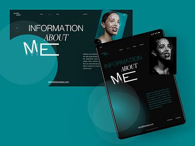 Elena Jasić - About fashion girl woman interaction grid typography website design sketch creative webdesign interface clean web ux ui portfolio folio photograph photo