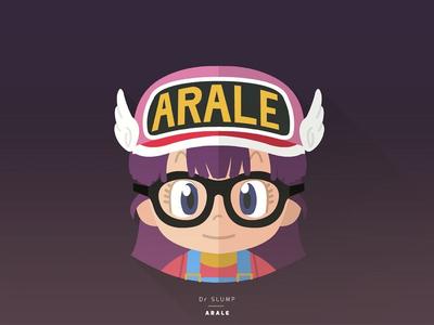 Dr Slump Arale icon cartoon flatdesign