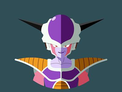 Frieza (Freeza) vector dragonball flatdesign flat