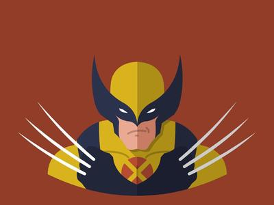 Wolverine flatdesign flat vectorart vector
