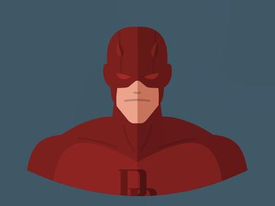 Daredevil daredevil vectoart vector flatdesign flat