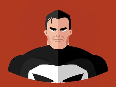 The Punisher vectorart vector flatdesign flat