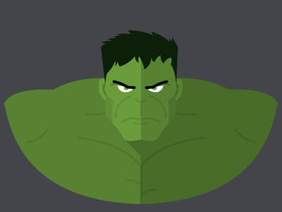 Hulk flatdesign flat vectorart vector