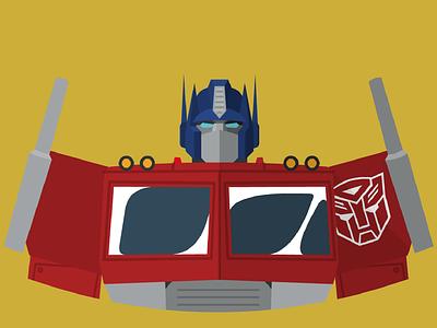 Optimus Prime flat transformers vector