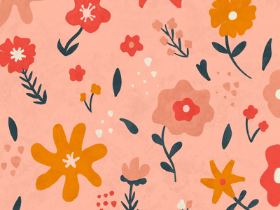 Flower Pattern spring illustration flowers
