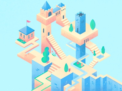 Isometric Castle isometric illustration isometric design castle