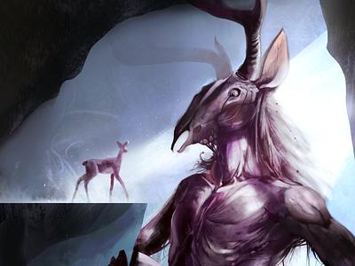 "Oh deer God! deer art ""concept"