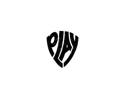 Play rythm marker black  white typography music pick guitar guitar pick