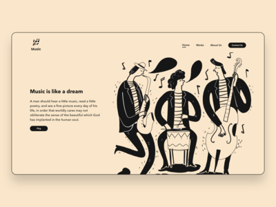 Music Landing Page madewithadobexd dribbble uidesign ui  ux ux ui music landing page