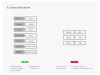 Do Don'T - A Good Register