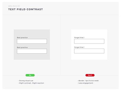 Do Don't - Contrast Field app buy shop ecommerce e-shop contrast date picker field guide register contact best design ux designer ux process form elements form builder form design form field form input field