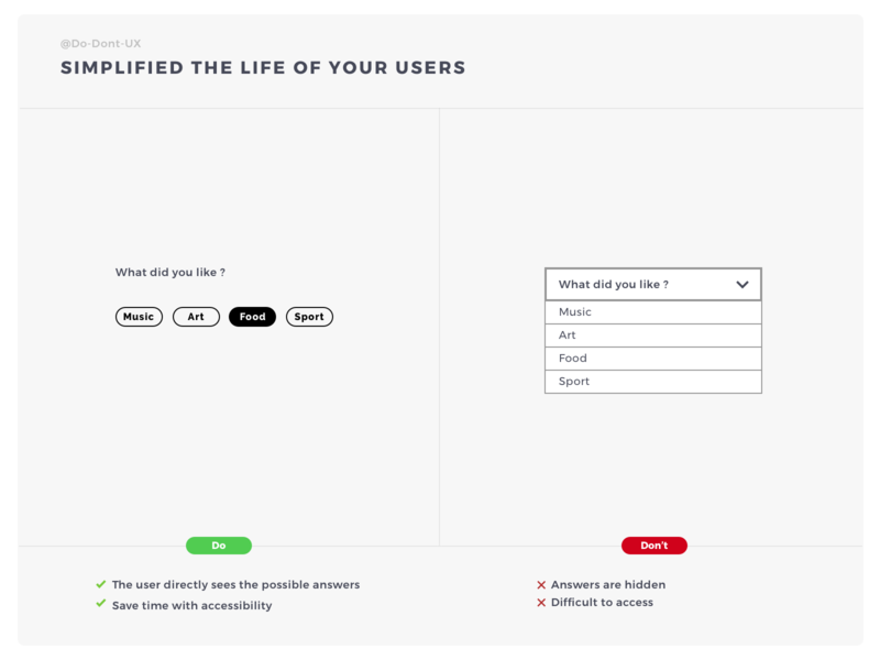 Simplified The Life Of Your Users categories category filter choice free design template design template label design label ux do dont formulaire form question form field form elements field guide best practice form builder field ux process