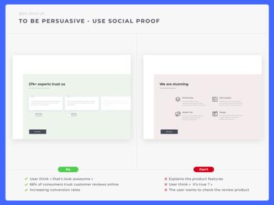 Do Don't UX - Social Proof