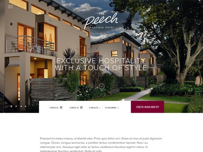 The Peech Hotel homepage booking website boutique hotel