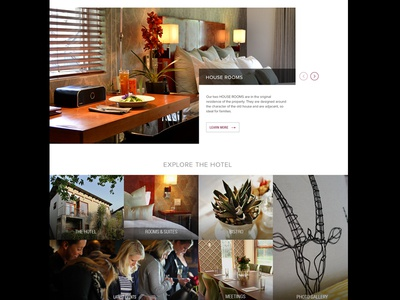 The Peech - Explore booking website homepage hotel boutique