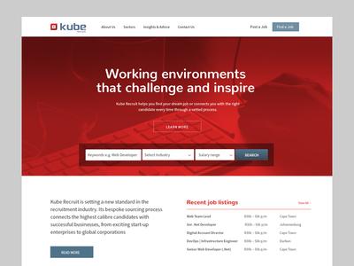 Kube Recruit search bar homepage recruit