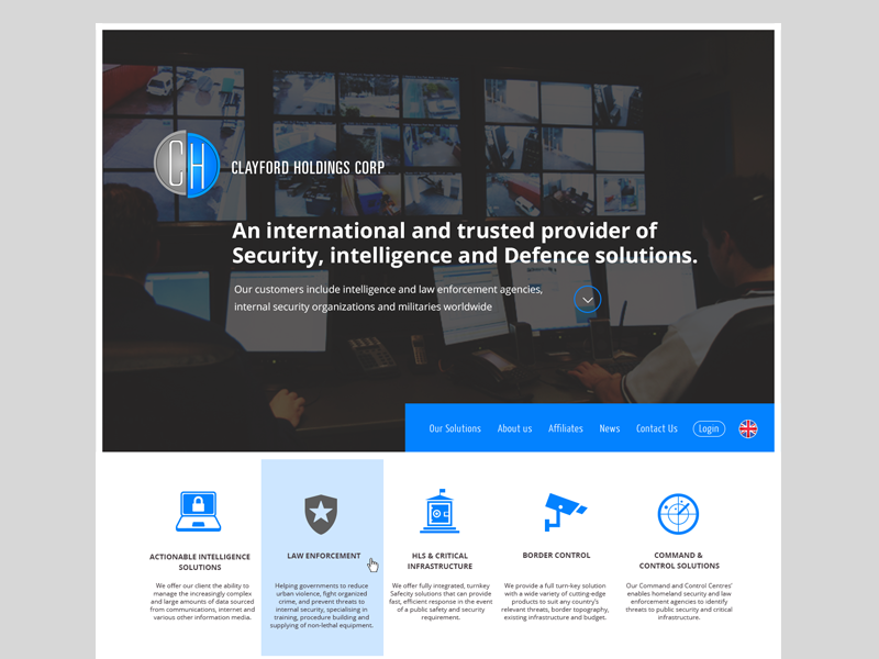 Clayford Holdings corporate security company homepage
