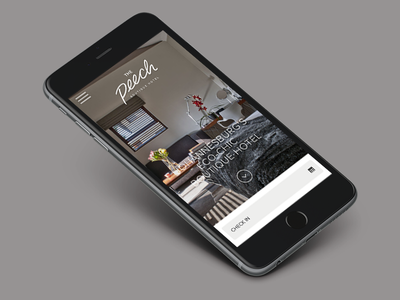 The Peech Mobile boutique mobile responsive hotel