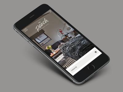 The Peech Mobile boutique mobile responsive hotel