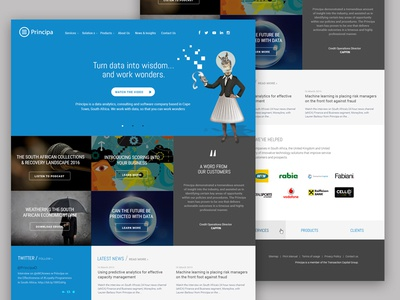 Principa homepage redesign data big data corporate homepage redesign