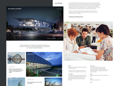 Architect website grid clean architecture homepage architect