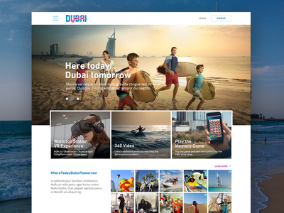 Campaign homepage travel homepage gamification