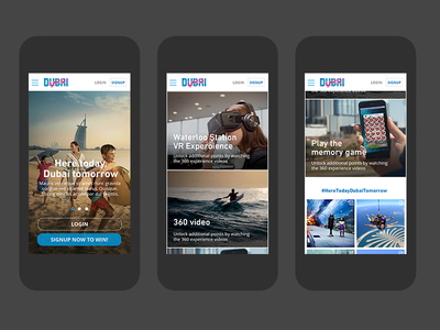 Gamification campaign mobile designs homepage mobile gamification