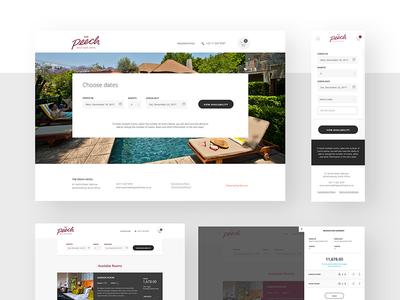Benson Case Study web application booking engine ui type layout pms hotel design app website web