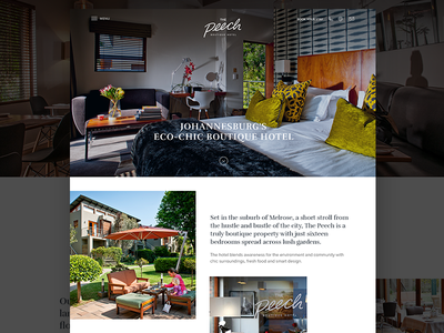 Hotel website redesign restuarant simple clean ui homepage redesign website hotel