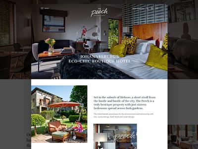 Hotel website redesign restuarant simple clean ui homepage redesign website hotel