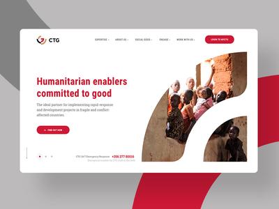 Corporate website homepage non-profit website design direction exploration business corporate landing page ui homepage design homepage