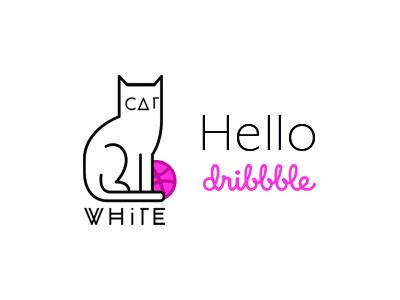 Hello Dribbble. shy shot hello first dribbble debut hello dribbble