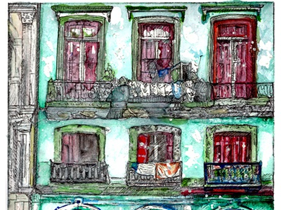 Cuba series. Illustrations. fine art artist illustrator watercolor cuba illustrations illustration