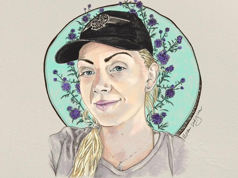 """Thistle portrait"" illustration. procreateapp procreate ipadpro illustrator illustration"