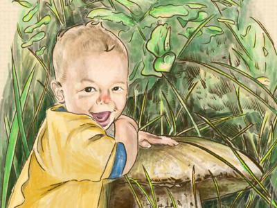 """""""Little Frankie Thumb"""" illustration. procreateapp procreate ipadpro illustrator illustration"""