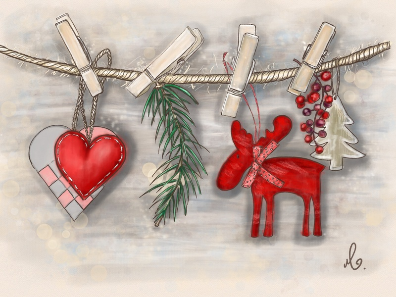 Merry Christmas illustration :) digital artist digital art digital illustration merry christmas procreate app procreate ipadproart ipadpro illustrator illustration art illustration