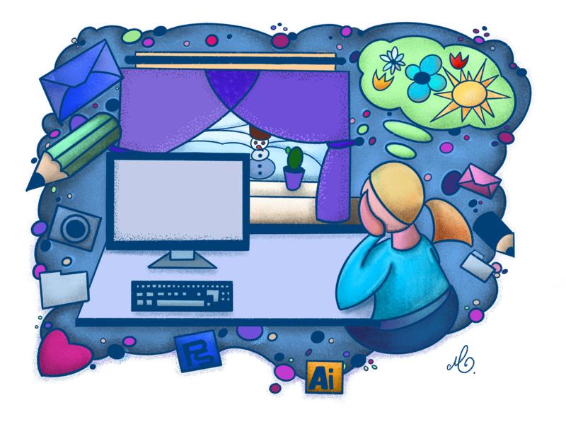 Oh My Thor How I Miss Summer :o) illustrator ipadpro illustration procreate art procreate app procreate flat illustrations digital illustration