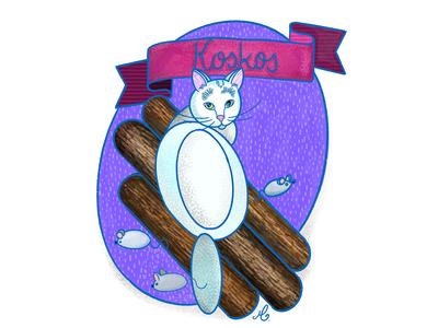 Koskos Cat flatillustration flatdesign procreate art procreate procreate app ipadpro ipad illustrator illustration