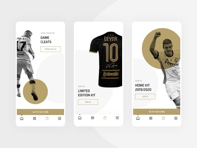 Legia Warsaw Mobile App - Product Sections minimal clean flat user experience user interface sketch football soccer sports interaction mobile app ux ui