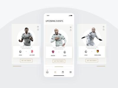 Legia Warsaw Mobile App - Events Screen