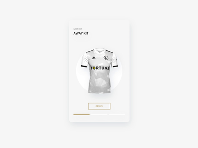 Legia Warsaw Mobile App - Product Card principle user interface animation football soccer sports products ecommerce mobile user experience app ux ui