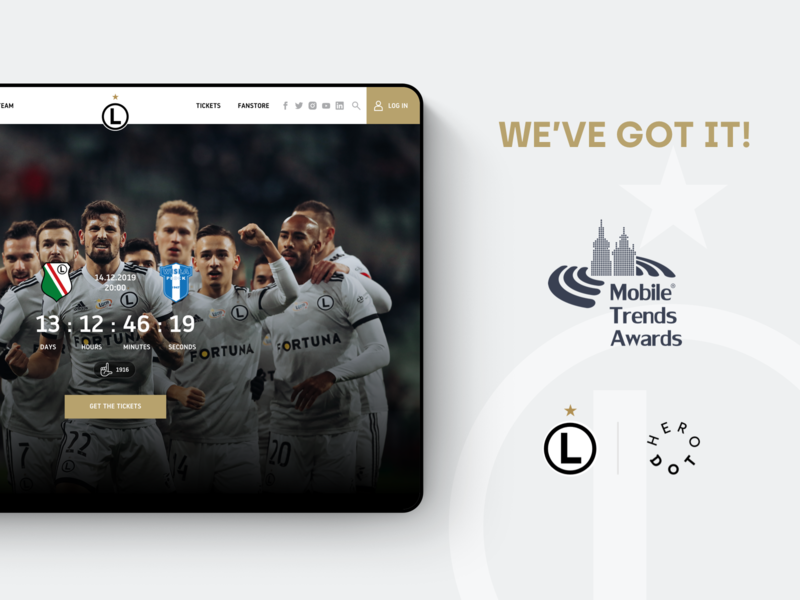 Mobile Trends Awards 2019 - Legia Warsaw warsaw web design user experience user interface football soccer sports website webdesign ux ui mobiletrendsawards awards